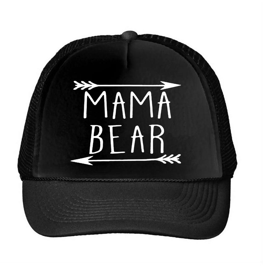 e6b2d6d19d6 MAMA Bear Arrow Letters Print Baseball Cap Trucker Hat For Women Men Unisex Mesh  Adjustable Size Drop Ship M 159 Brixton Hats Trucker Cap From Haydena