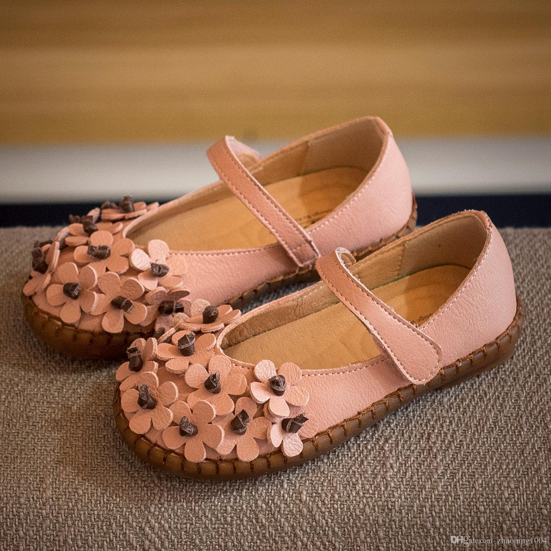 Designer Sweet Summer Girls Princess Shoes Kids Flower Sequined