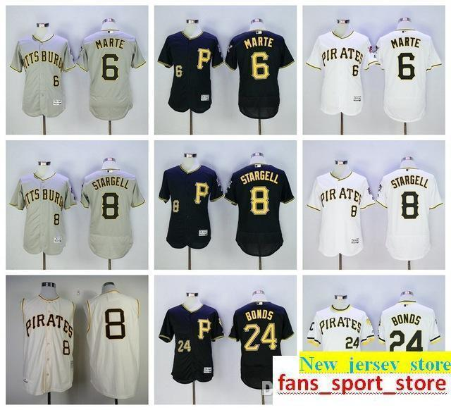 a7b21d629 2019 2019 Cheap Men S Ph Pirates 24 Barry Bonds 8 Willie Stargell 6  Starling Marte Jersey 100% Stitched Baseball Jersey From New jersey store