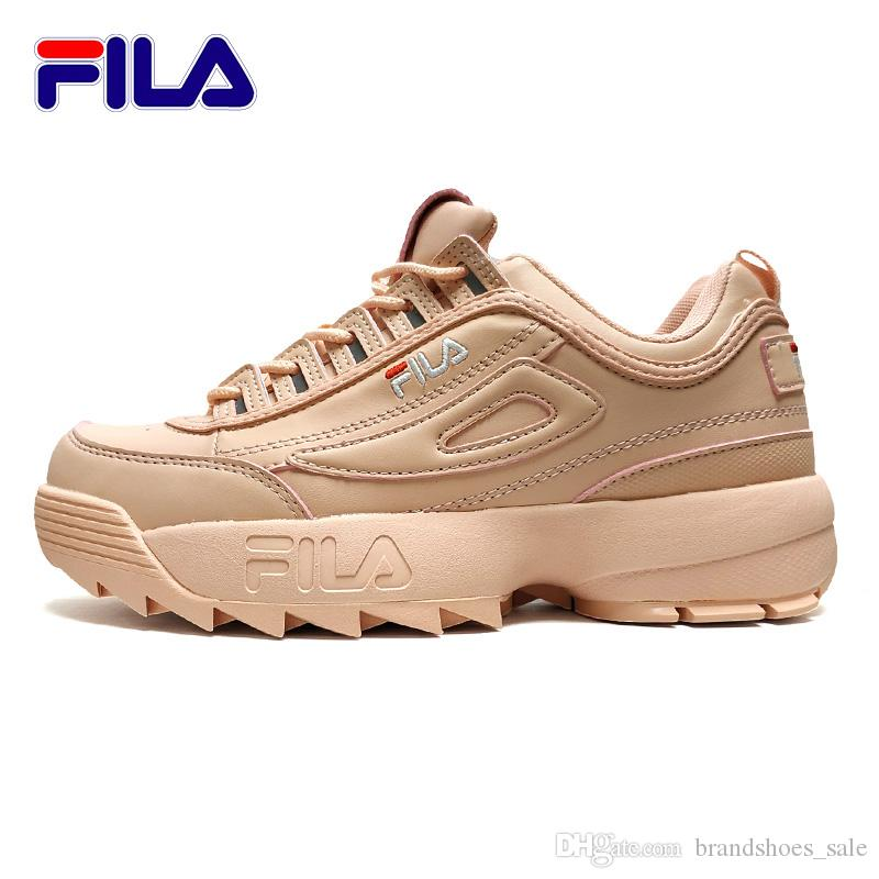034179631665 FILA II 2 White Pink Women S Running Shoes Sneaker Thicker Legs Repair  Leggings Jogging Light Breathable Sports Shoes 36 41 Canada 2019 From  Brandshoes sale ...
