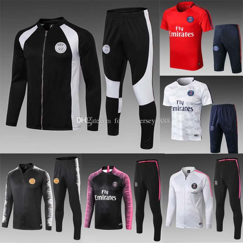 2018 Soccer Tracksuit Jor Football Training Suit MBAPPE VERRATTI CAVANI pSg Champions League Survetement jogging tracksuit kit