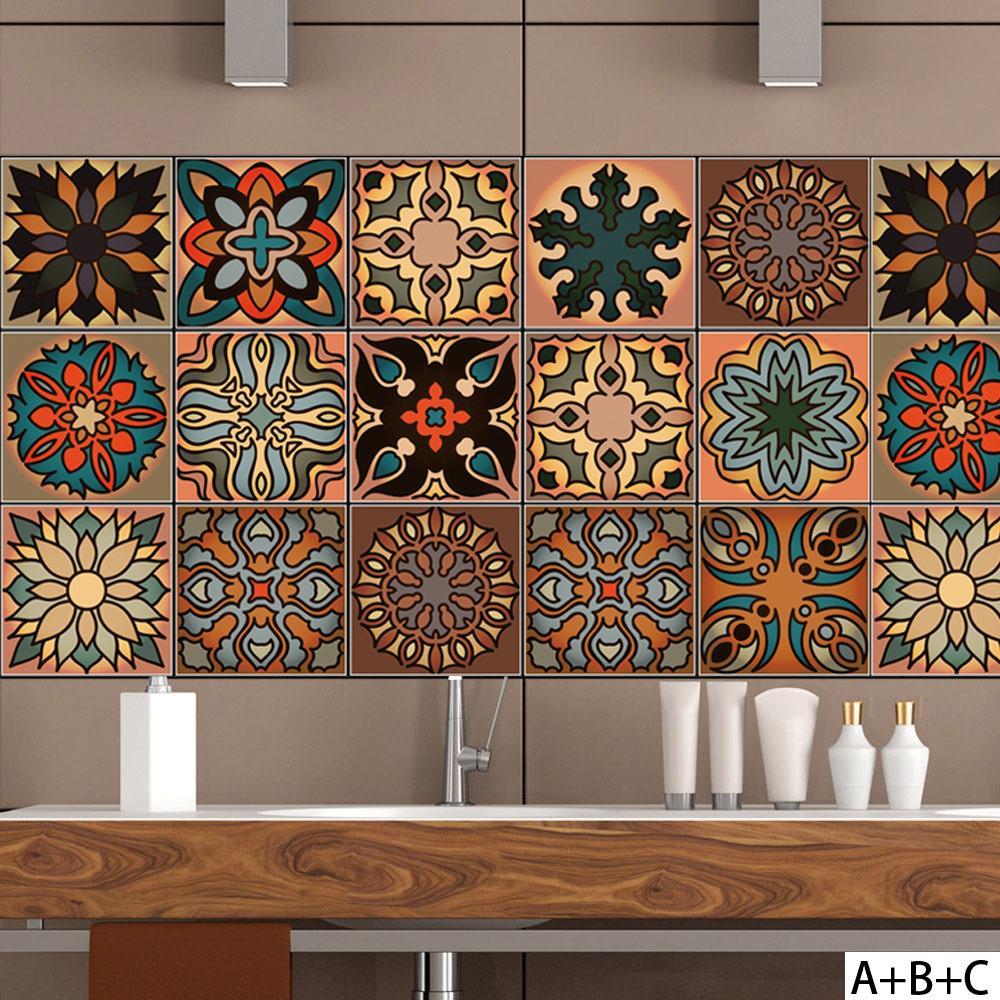 Style Marocain DIY Mosaïque Carreaux De Mur Autocollants Taille Ligne  Sticker Mural Cuisine Adhésif Salle De Bains Toilette Étanche PVC Papier  Peint