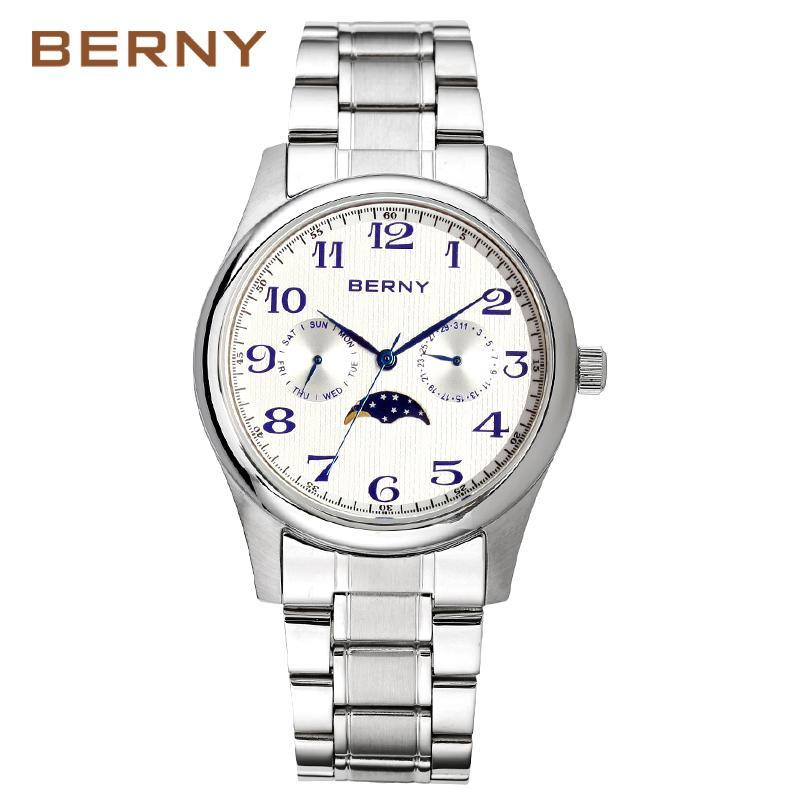 44cd0e9e587 Compre Berny Homens Relógio De Quartzo Mens Relógios Moda Top Marca De Luxo  Relogio Saat Montre Horloge Masculino Erkek Hombre MOVIMENTO DO JAPÃO De ...