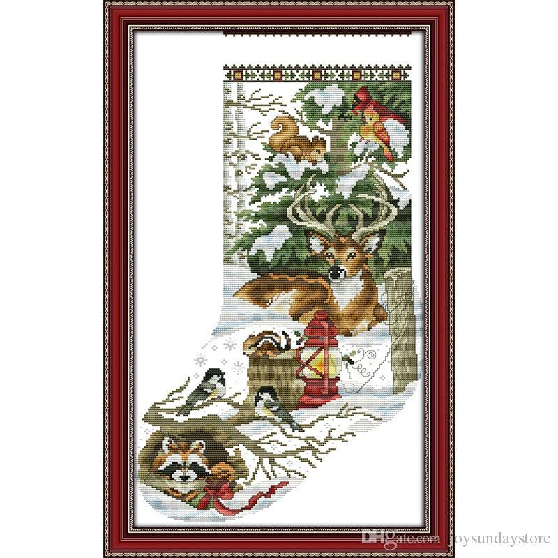 2019 The Winter Jungle Christmas Stockings Counted Cross Stitch Dmc