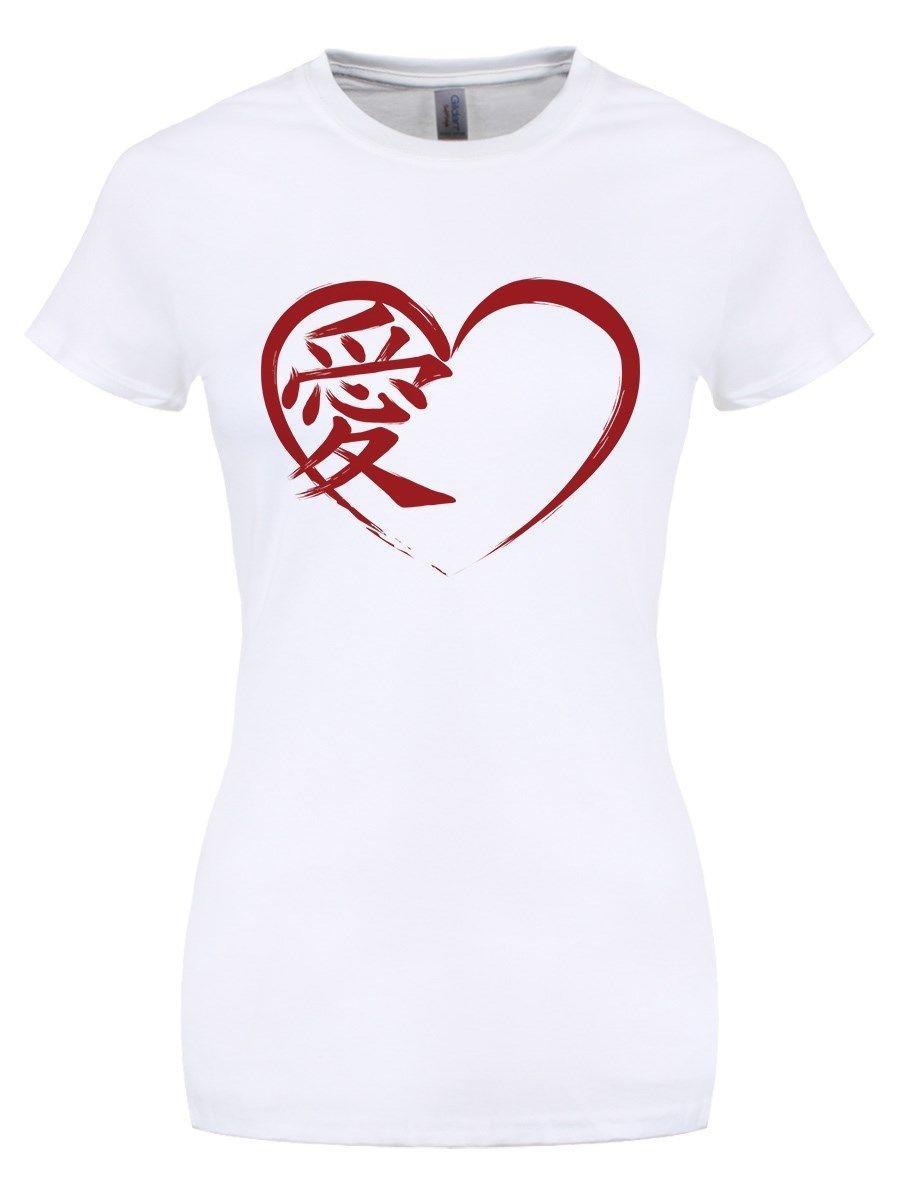 Amor Para Mujer Japonés Blanca Compre Camiseta 76gybf
