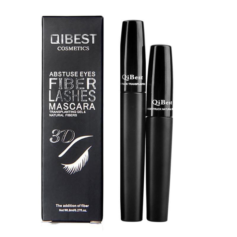 bc824227504 QiBest 3D Fiber Lashes Cosmetics Mascara Black Double Mascara Set Makeup Lash  Eyelash Waterproof Mascara =0605093 No 7 Cosmetics Beauty Products Online  From ...