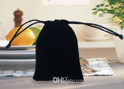Veludo preto Sacos de cor Pura mulher saco de cordão do vintage para o Presente diy Saco de Embalagem de Jóias artesanais