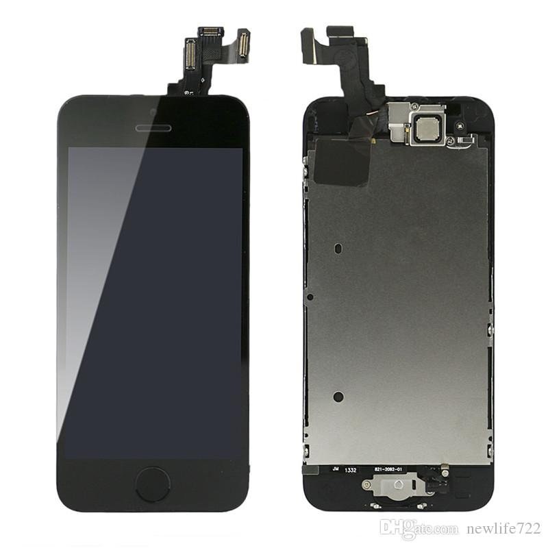 Pre-Assembled For Iphone 5s Touch Screen Digitizer LCD Display With Front Camera Home Button 4.0inch Full Screen Set