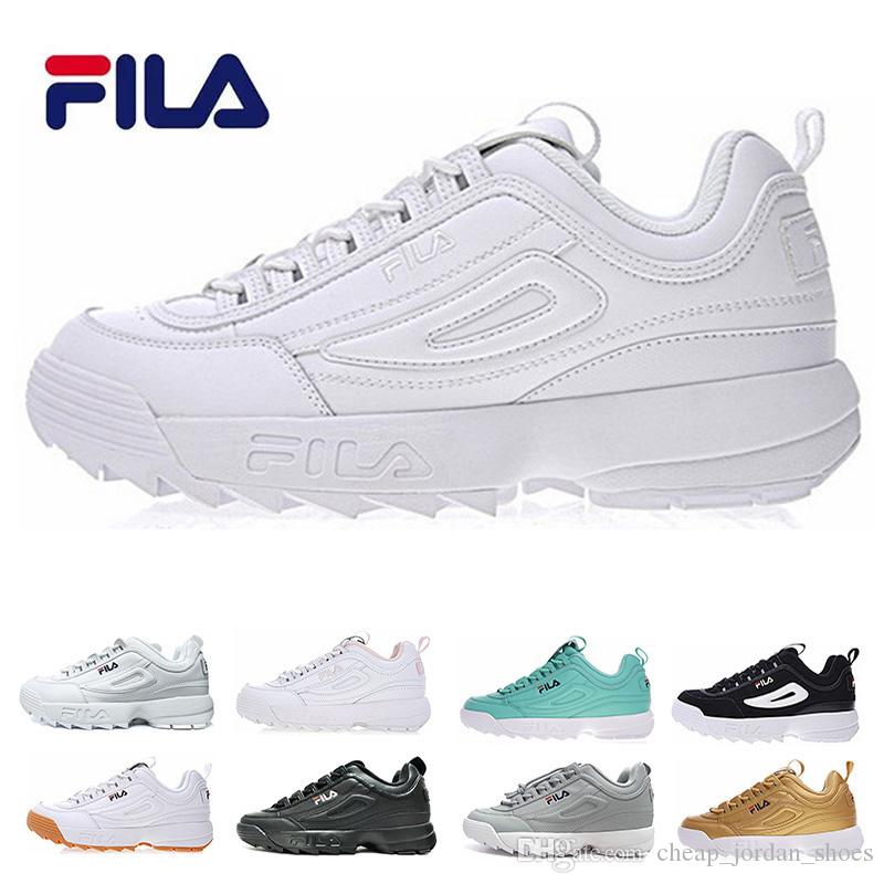 Women Black Triple Disruptors White Zapatos 2 Pink Ii Fila Grey Men I1wqzYU