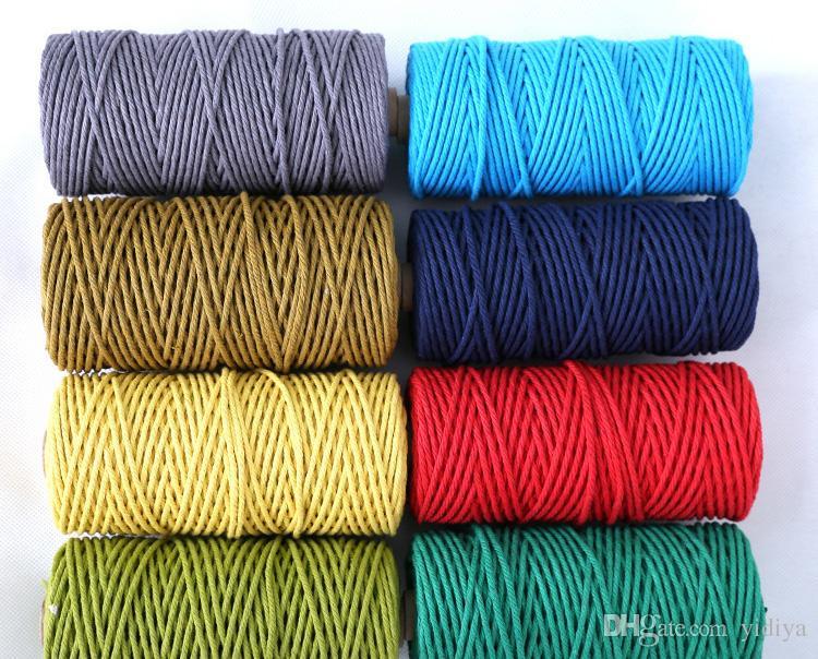 Fai da te Corda appendere la parete appendere la corda maglieria Corda spago artigianato 3mm * Cordone corda in cotone 100m