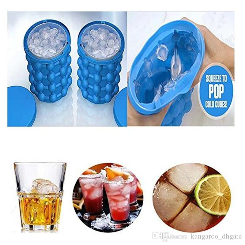 Dropshipping Ice Cube Maker Genie The Revolutionary Space Saving Silicone irlde ice bucket mold Kitchen Tools for whiskey Chilling wine