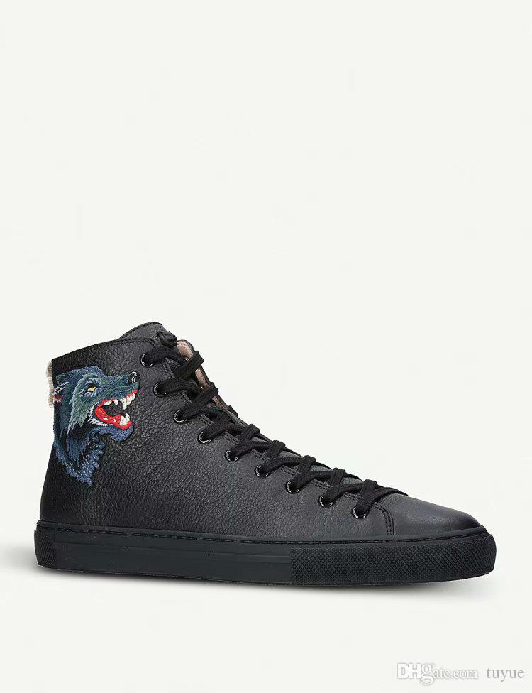 dca255fc2a1 Cheap High-top Sneaker Designer Shoes Casual Luxury Brand Textured Leather  with Tiger Dragon Appliqué Snake Sneaker for Men Women Size 35-46.