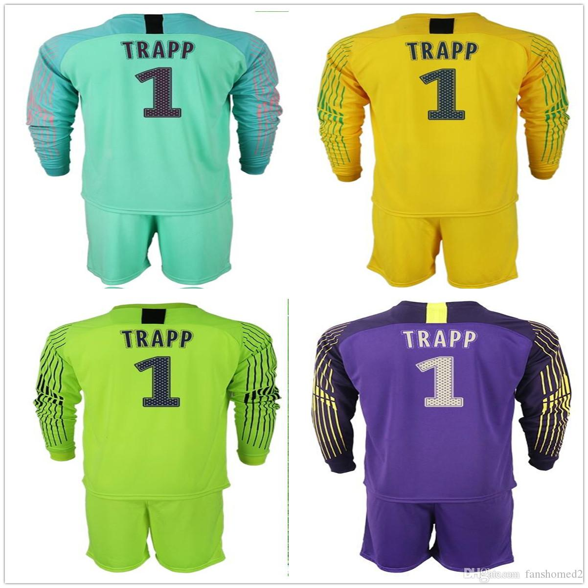17792b6b4 2019 2018 2019 Long Sleeve Gianluigi  1 Buffon Trapp Goalkeeper Jersey  Fluorescent Green Yellow Purple Soccer Sets Men Football Uniform Kit From  Fanshomed2