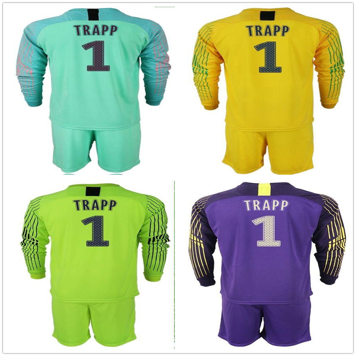 Compre 2018 2019 Manga Larga Gianluigi   1 Buffon Trapp Portero Jersey  Fluorescente Verde Amarillo Púrpura Fútbol Establece Hombres Uniforme De  Fútbol Kit A ... ce1e1118a64ee