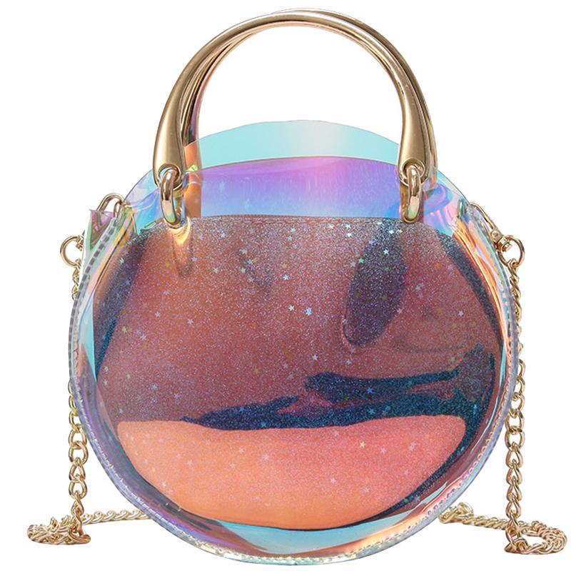 df8a753df89a Women Transparent Bag Clear PVC Small Tote Messenger Bags Laser Holographic  Shoulder Bags Female Lady Chain Crossbody Bag 936 Handbags Brands Hobo  Handbags ...