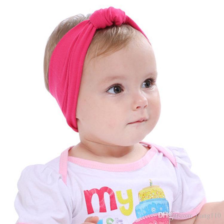 f64dbb9f820a62 Großhandel Großhandel New Newborn Baby Mädchen Baumwolle Elastische  Stirnbänder Infant Kinder Knoten Stirnbänder Haarbänder Kinder Headwear  Haarschmuck Von ...