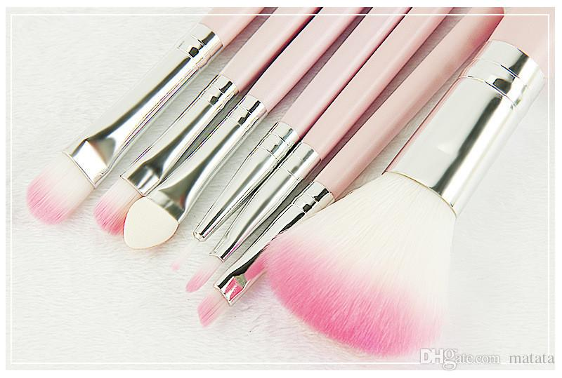 Hot New Makeup brushes makeup brush Professional Brush sets Goat hair Pink DHL shipping