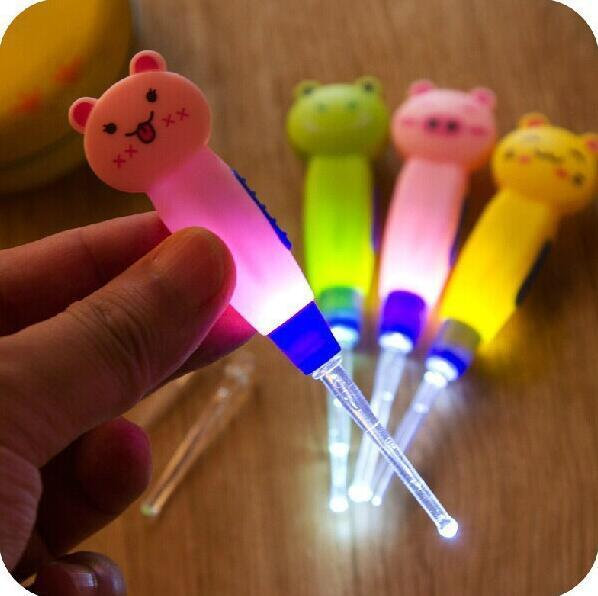 Cartoon Ear Wax Remove LED Flashlight EarPick Cleaner Curette Electric ear cleaning device dig ear massage Tool