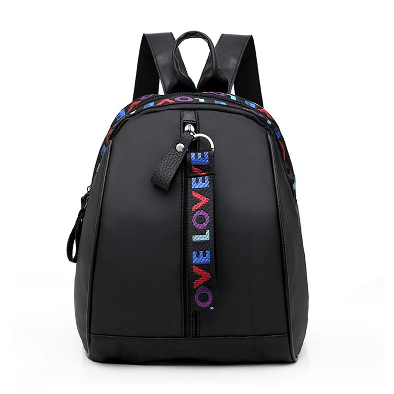 98f9346d56e 2019 Fashion 2018 New Women Mini Backpack Black Nylon Small Travel Backpack  Women School Bags For Teenage Girls Mochilas Mujer Small Bagpack Hydration  ...