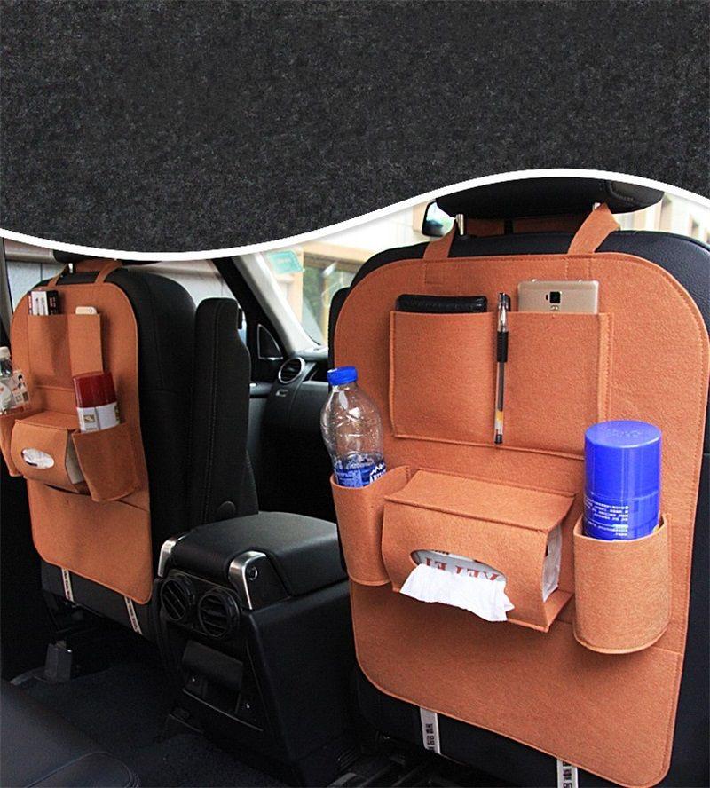 Assento de carro Tampa Traseira Saco De Armazenamento Assento Titular Organizador Bolsos Multi Color Auto Acessórios 5 5ck