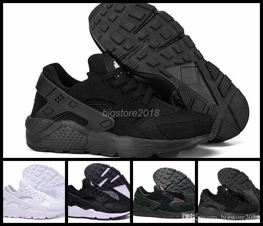 best sneakers d8bd9 2dbaf 2018 New Air Huarache 1 I Running Shoes For Men Women,Green White Black  Sneakers Triple Huaraches 1s Trainers Huraches Sports Shoes Mens Trail Running  Shoes ...