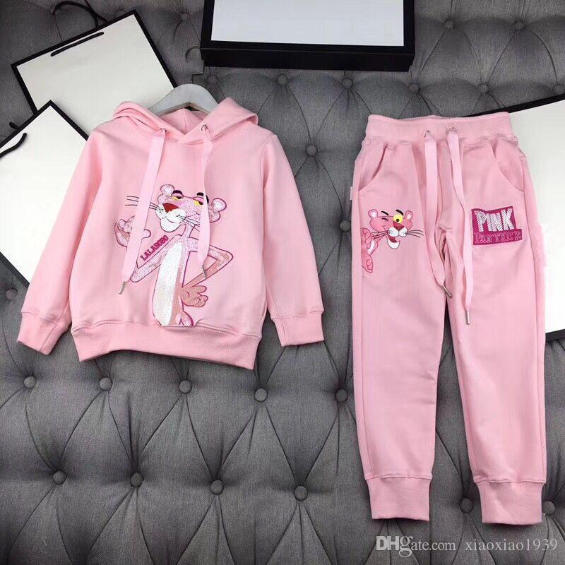 Compre Pink Panther Nueva Llegada Girls Set 2018 Otoño Invierno Sweater Moda  Marca De Lujo Bebé Ropa Casual Kids Girl Hoodie + Dpants A  59.8 Del ... ca4fbbf9df3