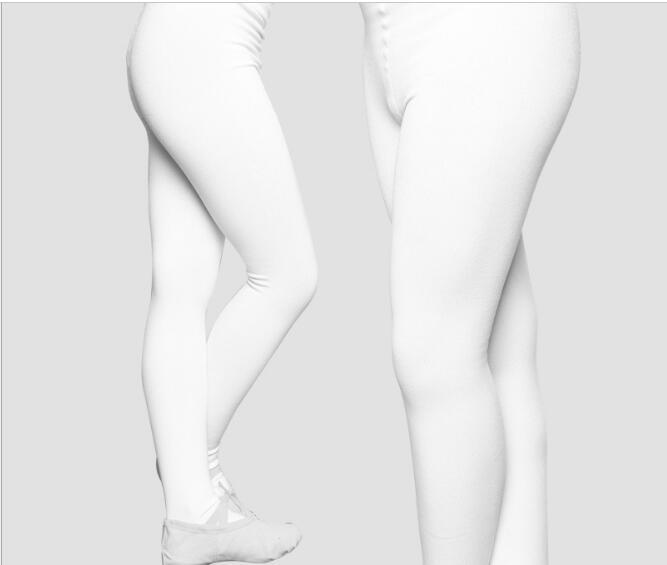 e56d2bc1d 2019 Winter Dance Warm Tight Girls Solid Soft Ballet Tights 2 Pakcs Footed  Pantyhose White Full Length Legging From Wuyasi