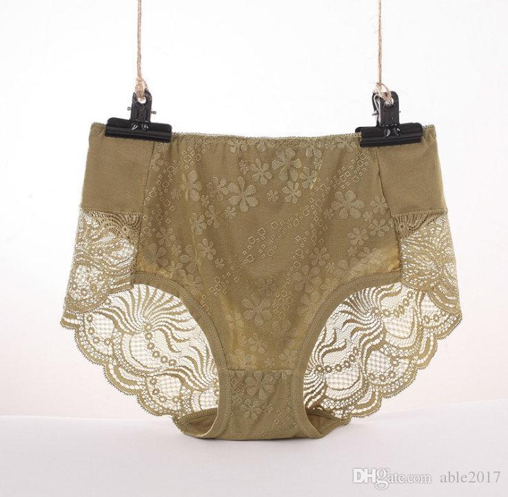 Komfort Bambus Höschen Frau Nahtlose Unterwäsche Damen Sexy Lace Briefs Intime Kleidung Top Qualität Thongs P041