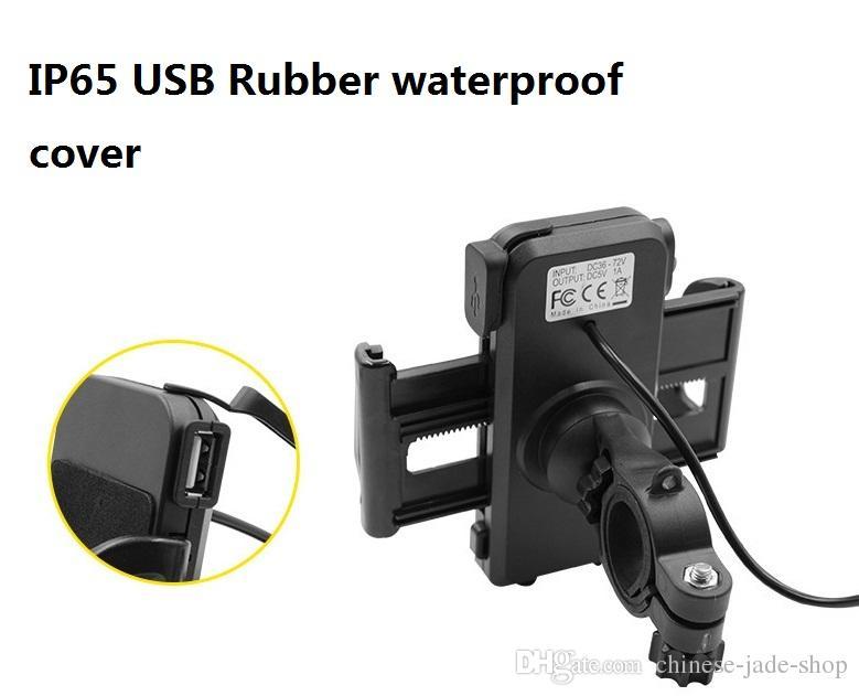 2 en 1 titular de montaje de teléfono IP65 a prueba de agua de la motocicleta a prueba de agua con 5V 2.4A cargador de USB interruptor de alimentación 4.5FT cable de alimentación UCH-01 / LOTE EN VENTA AL POR MENOR
