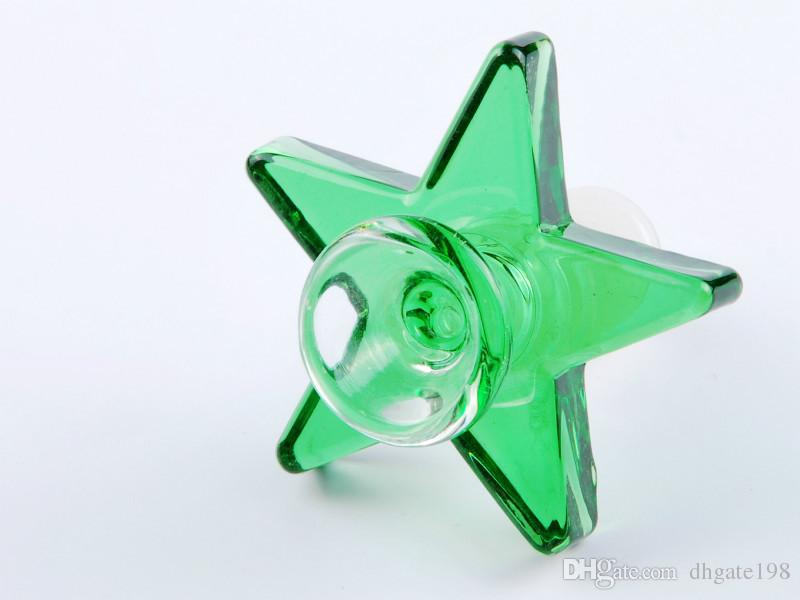 bunter 14.4mm 18.8mm männlicher Glastabak, der Schüssel raucht Starker berauschender mechanischer Gang Pentagram Tabak bongs Schüssel für Wasserbongs Rohr