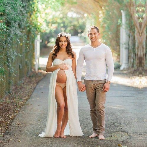 3531bcf5e34 2019 Fashion Maternity Photography Props Fancy Maternity Dresses ...