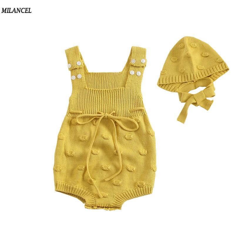 516442cf1e46 MILANCEL 2018 New Baby Bodysuits Knitted Bodysuits for Baby Girls ...