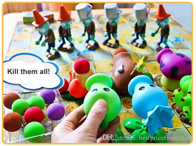 Plants vs Zombies Action Figure Toys Shooting Dolls 6-in-in Gift Box