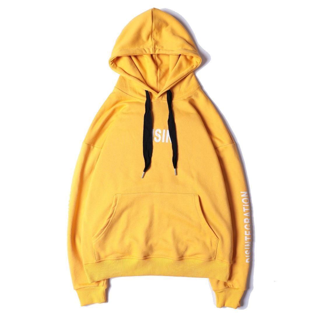 b0ac28eda 2019 New Fashion Yellow Hoodies Mens Hip Pop Streetwear Thin Pink ...