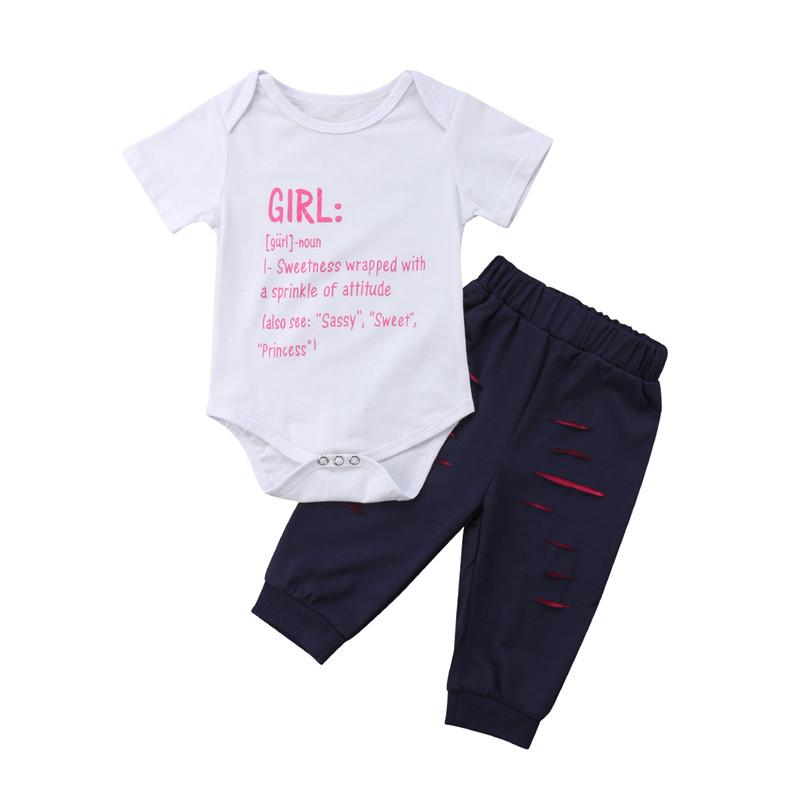 c952e7f4c Newborn Infant Baby Girls Clothes Set Cotton Short Sleeve Bodysuts ...