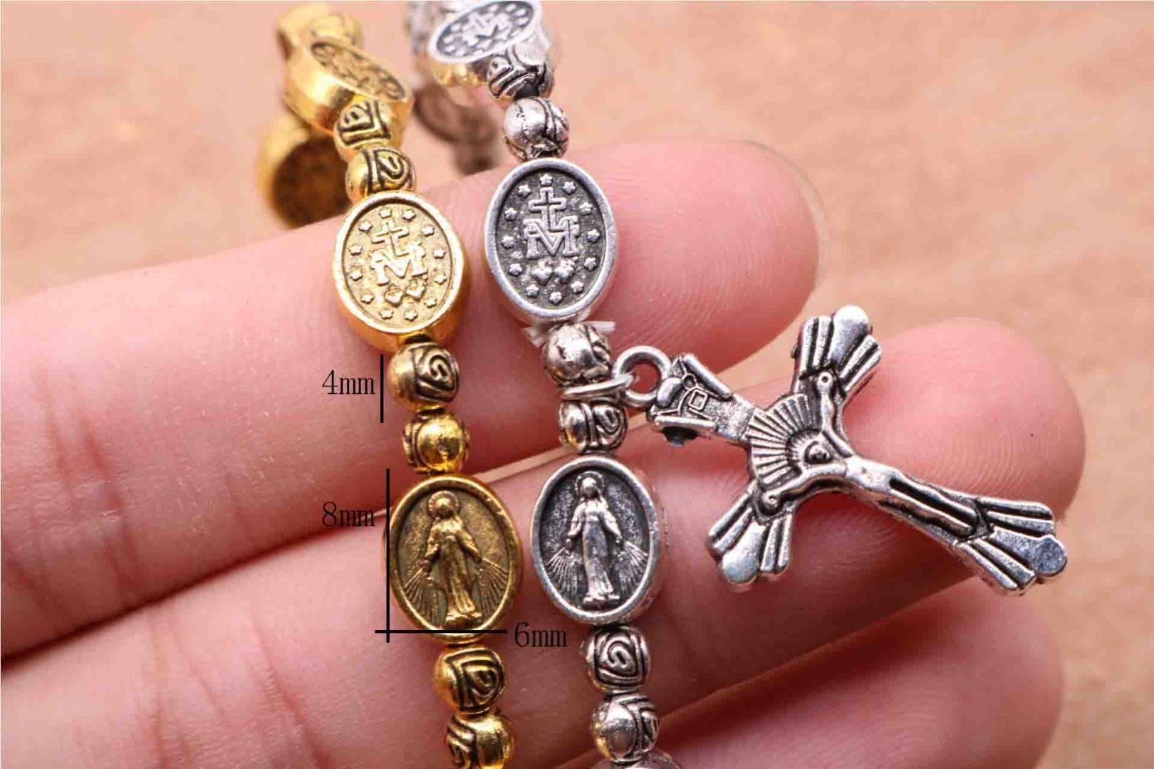 2018 Tzk Jesus Cross Bracelet Vintage Gold And Silver Jesus Jewelry ...