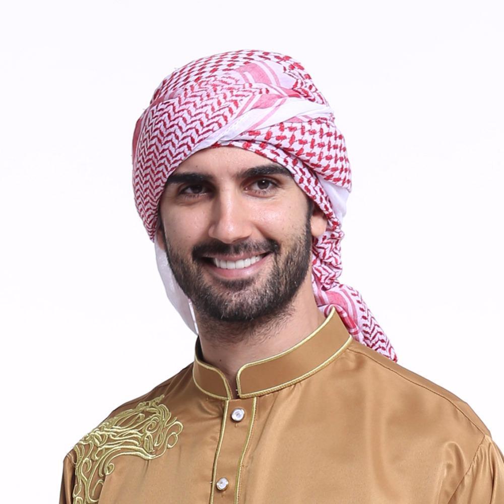 Compre Moda Musulmán Hijab Shemagh Bufandas Árabes Hombres Árabe Keffiyeh  Islámica Diadema Sombrero Cap Imprimir Hombre Bufanda Turbante Árabe  Cubierta De ... 42c9a339925