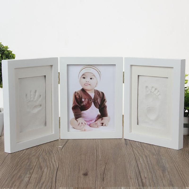 Photo Frame Diy Baby Handprint Footprint Picture Frames Inkpad Diy