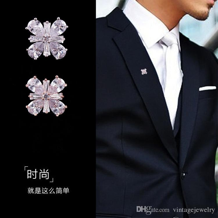 Fashion Clover Men's Brooch Lady Shirt Collar Buckle Used by Women and Men YP3343