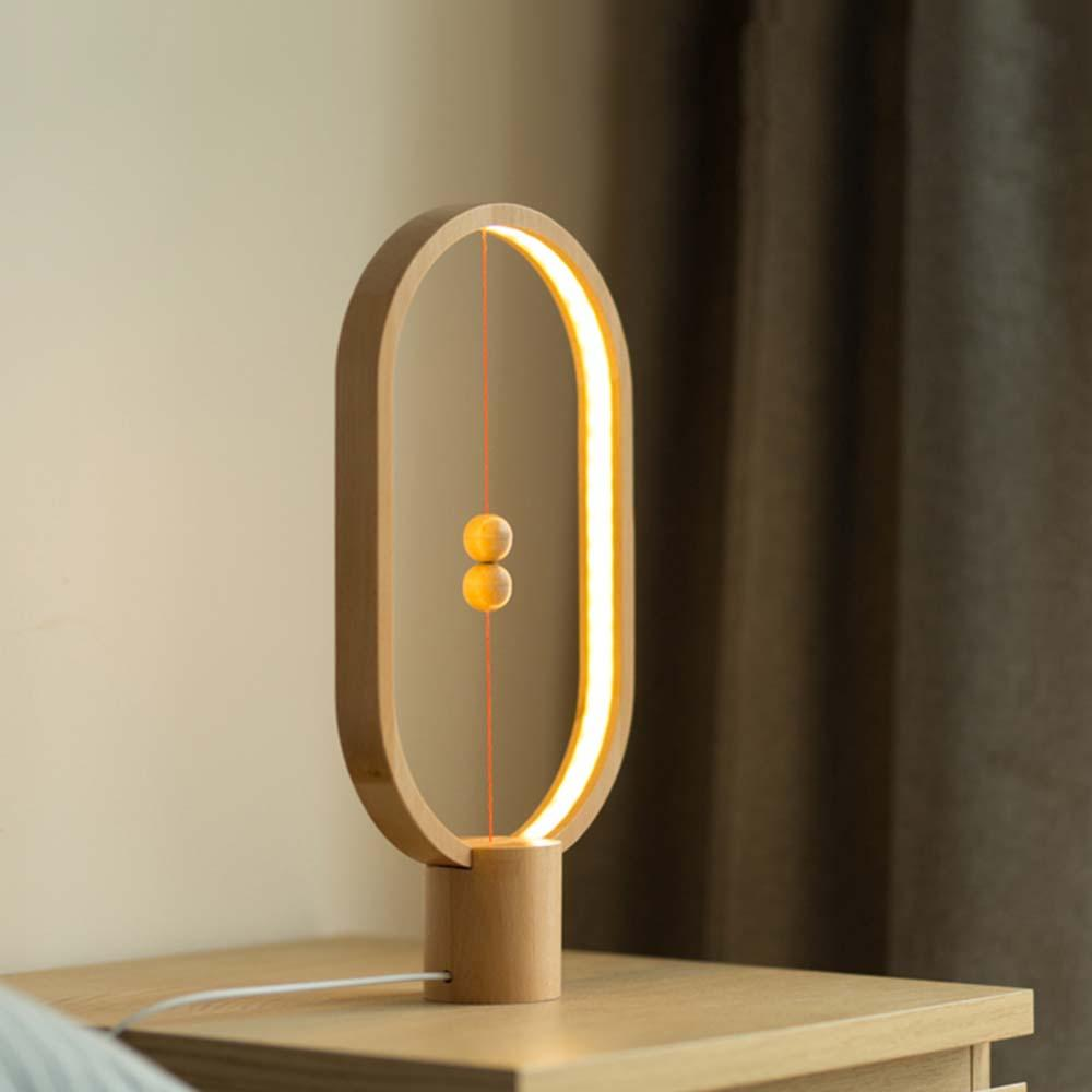 2019 Modern Novelty Magnetic Switch Led Wood Desk Lamps