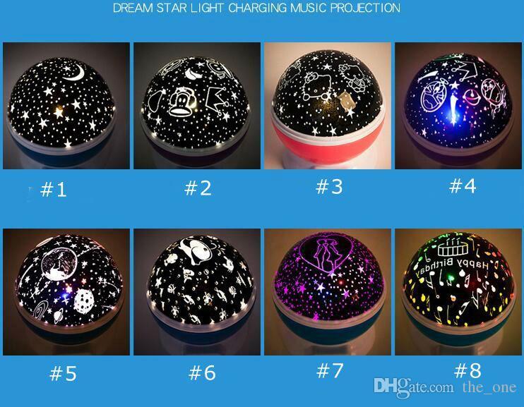 Romantische Starlight Sternenhimmel USB Nachtlicht Projektor Stern Master 3 Push Button Baby Schlaf Beleuchtung Led Stern Mond Lampe Geschenk für neues Jahr