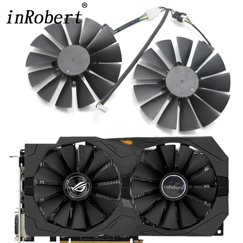 New 95mm CPU Cooler Fan Replace For ASUS GTX 1050 ti gtx 1080 ti RX 470 570  580 4G GAMING Graphics Video Card Cooling Fans
