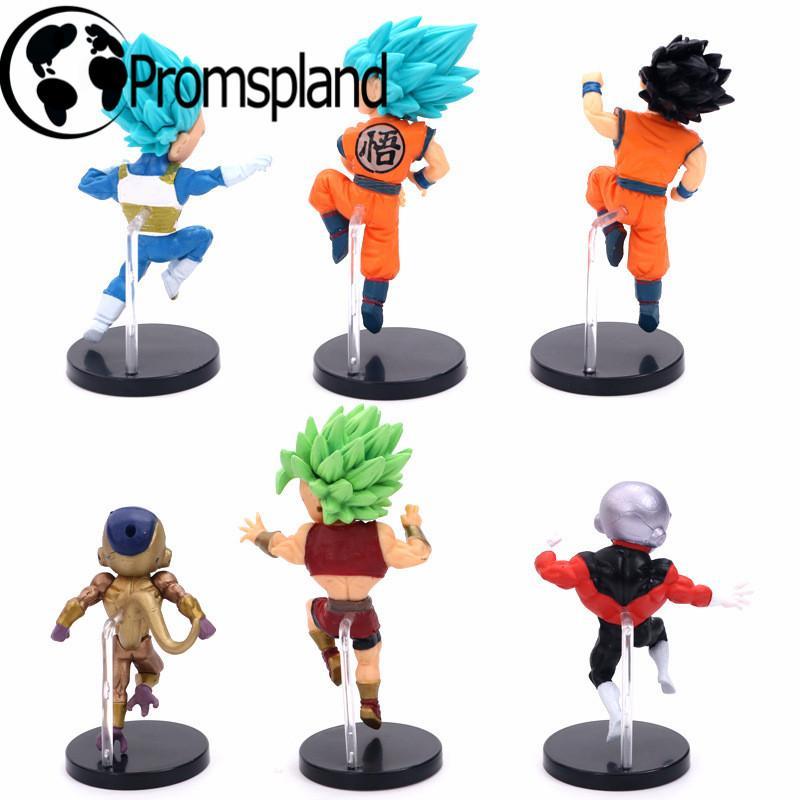 2019 Anime Dragon Ball Z Broly Vegeta Gohan Frieza Goku Q Version Action Figures PVC DBZ Toys For Kids Birthday Gifts 8cm From Zhongfugame 2632