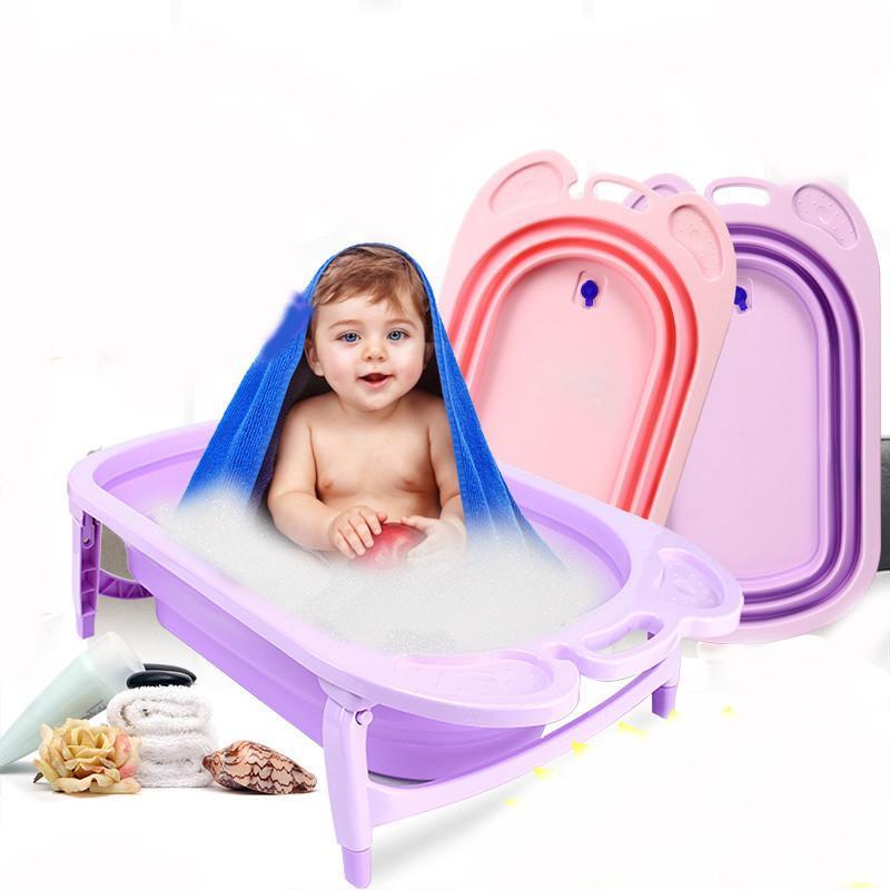 2018 Thickened Folding Baby Bath Tub Children\'s Bath Tub Baby Large ...