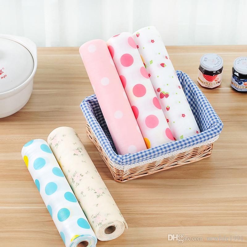 30*300CM Polka Dot Bohemian Style Table Cloth PET Material Funny Cute Cloth Cut Mats Waterproof Non-slip Insulation Pad Drawer Pad Free Ship