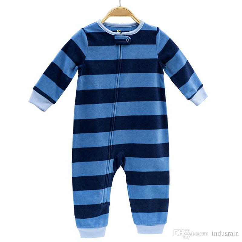 855a88de25 2019 2018 Spring Baby Clothing Infant Outfit Clothes Overall Fleece Outwear  Boys Pajamas Zipper Costumes Baby Girls Jumpsuit Romper From Indusrain