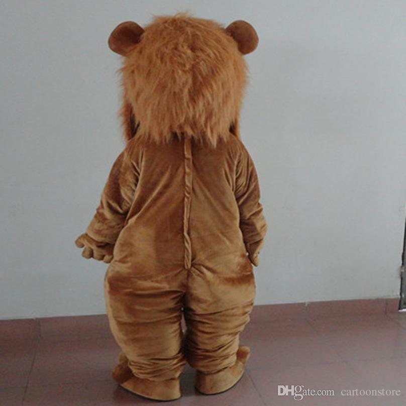 Quality Cartoon Lion Party Costume Cute Red Nose Lion Mascot Outfit Halloween Party Fancy Dress Mascot Costumes