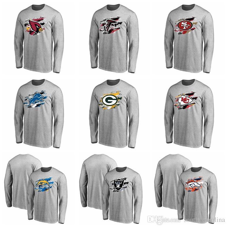 pretty nice 7127a 3ad4c 2018 Cardinals Denver Broncos Shirt Kansas City Chiefs Los Angeles Chargers  Oakland Raiders Pro Line Ash True Colors Long Sleeve T-Shirt