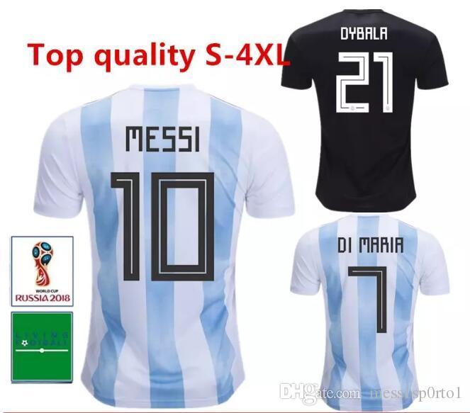 Camiseta De Fútbol Argentina 2018 Copa Del Mundo Messi Dybala Kun Aguero  18 19 Camisetas De Fútbol Soccer Nueva Camiseta De Fútbol Local De Local De  Fútbol ... 1dc1c0e713a20