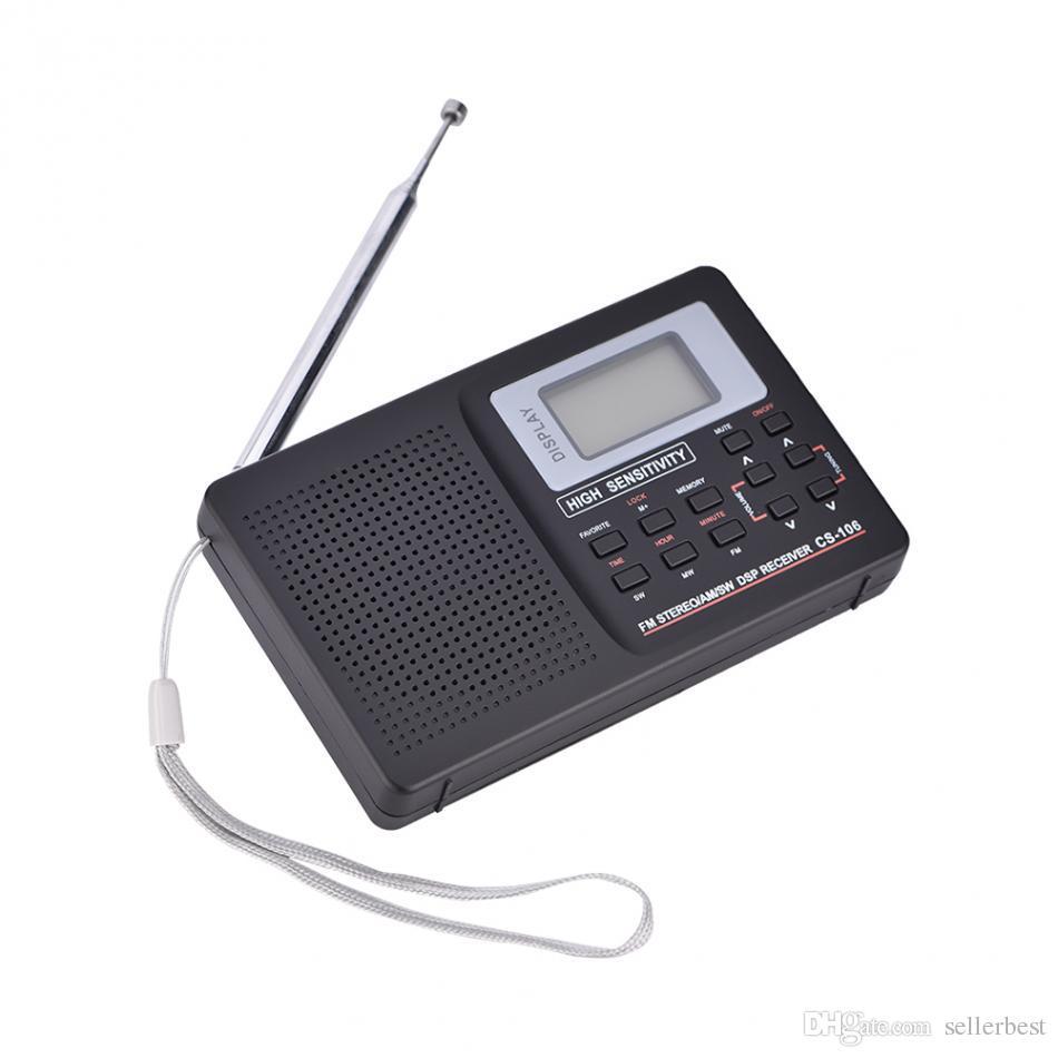 VBESTLIFE Tragbares Radio Unterstützung FM / AM / SW / LW / TV Sound Vollband Wecker Radio Mini Radio 2 Typ Optional